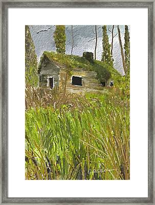 Framed Print featuring the digital art Deserted by Dale Stillman