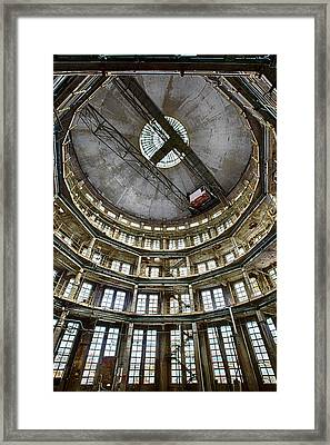 Deserted Factory Tower - Industrial Heritage Framed Print