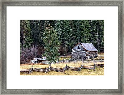 Deserted Farm Framed Print