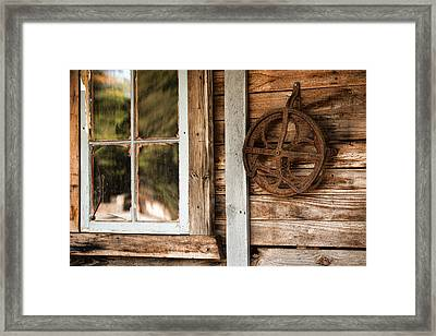 Deserted Homestead Framed Print by Bonnie Bruno