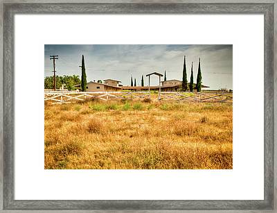 Deserted Horse Stables Framed Print by Connie Cooper-Edwards