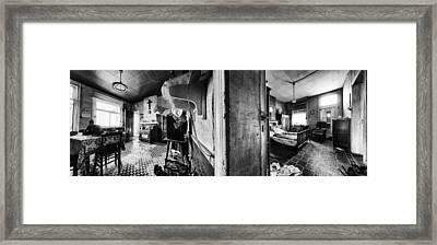 Deserted Interior Abandoned House - Urban Exploration Framed Print by Dirk Ercken