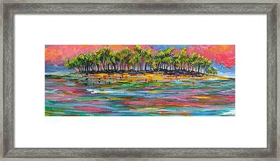 Deserted Island Framed Print by Anne Marie Brown
