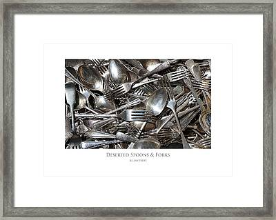 Framed Print featuring the digital art Deserted Spoons And Forkes by Julian Perry