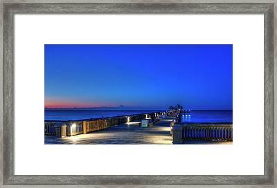 Deserted Sunrise Folly Beach Charleston South Carolina Art Framed Print