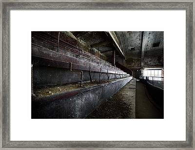 Framed Print featuring the photograph Deserted Theatre Steps - Urban Exploration by Dirk Ercken