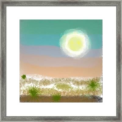 Framed Print featuring the digital art Desert.night.moon by Dr Loifer Vladimir