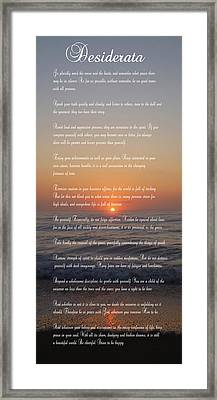 Desiderata ......... Desired Things Framed Print by Daniel Hagerman