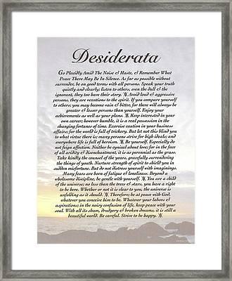 Desiderata 8 Framed Print by Desiderata Gallery
