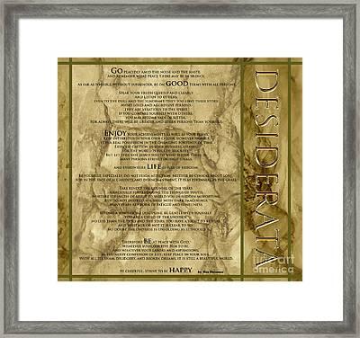 Desiderata #8 Framed Print