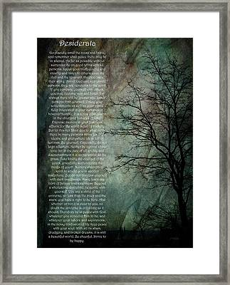 Desiderata Of Happiness - Vintage Art By Jordan Blackstone Framed Print