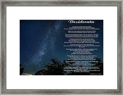 Desiderata - The Milky Way  Framed Print