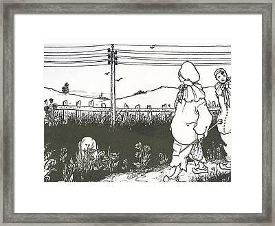 Design For End Paper Of Pierrot Framed Print