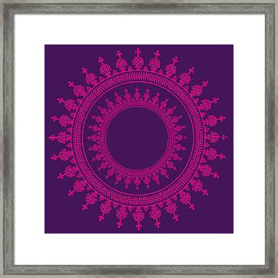Design In Pink Framed Print by Art Spectrum