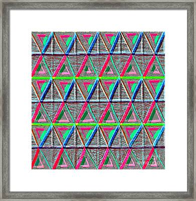 Design Synthesis Framed Print by Norma Appleton