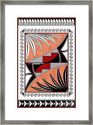 Southwest Collection - Design Three In Red Framed Print by Tim Hightower