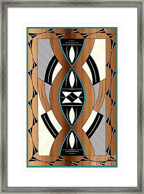 Southwest Collection - Design Two In Blue Framed Print