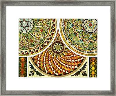 Framed Print featuring the digital art Design Veg-out Cream Color  by Catherine Lott