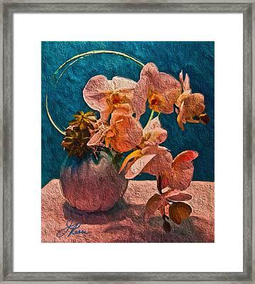 Designer Floral Arrangement Framed Print
