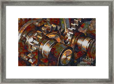 Designer Pumpjack Macro6 - Watercolor - 23032016 Framed Print