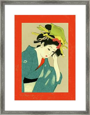 Designer Series Japanese Matchbox Label 126 Framed Print