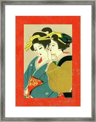 Designer Series Japanese Matchbox Label 127 Framed Print