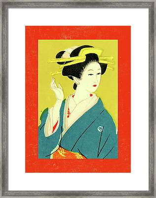 Designer Series Japanese Matchbox Label 128 Framed Print