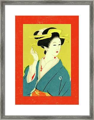 Designer Series Japanese Matchbox Label 128 Framed Print