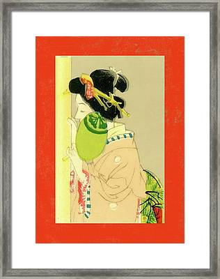 Designer Series Japanese Matchbox Label 129 Framed Print