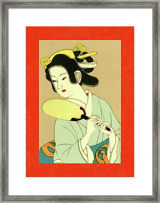 Designer Series Japanese Matchbox Label 130 Framed Print