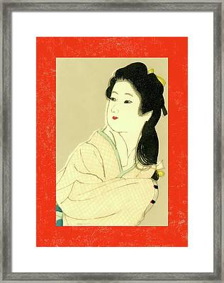 Designer Series Japanese Matchbox Label 132 Framed Print