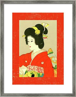Designer Series Japanese Matchbox Label 133 Framed Print