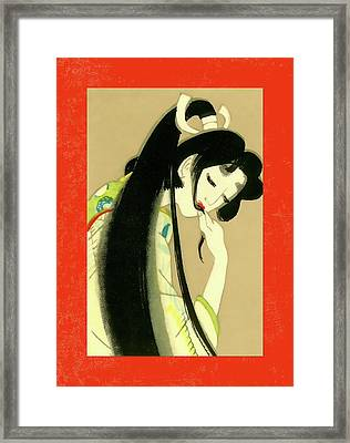 Designer Series Japanese Matchbox Label 134 Framed Print