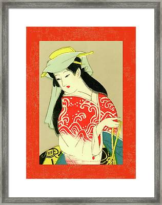 Designer Series Japanese Matchbox Label 135 Framed Print
