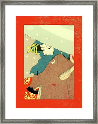 Designer Series Japanese Matchbox Label 136 Framed Print