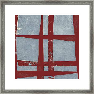 Designer Series Red And Blue 10 Of 11 Framed Print