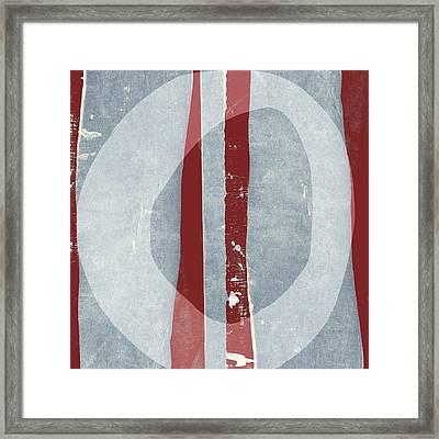 Designer Series Red And Blue 11 Of 11 Framed Print