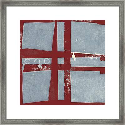 Designer Series Red And Blue 5 Of 11 Framed Print