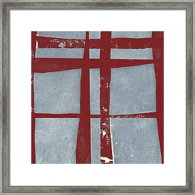 Designer Series Red And Blue 9 Of 11 Framed Print