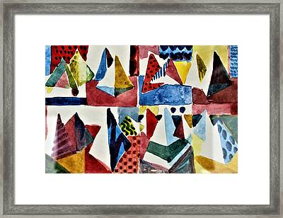 Framed Print featuring the painting Designs For Pyramids by Mindy Newman