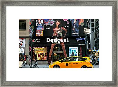 Desigual Framed Print by Diana Angstadt