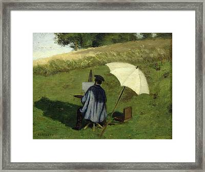 Desire Dubois Painting In The Open Air Framed Print by Henri Joseph Constant Dutilleux