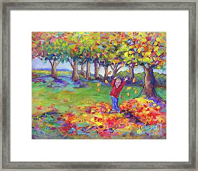 Hurrah For Fall By Peggy Johnson Framed Print