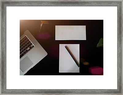 Desk, Desktop, Top. Framed Print