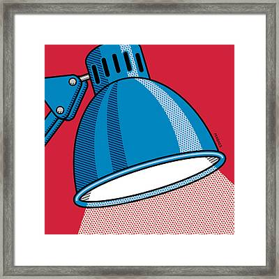 Desk Lamp Framed Print by Ron Magnes