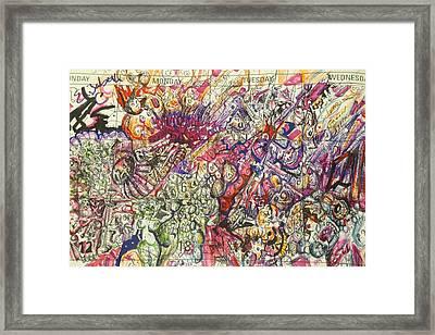 Framed Print featuring the drawing Desktop Calender Doodle by Steven Holder