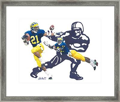 Desmond Howard - Hello Heisman Framed Print by Chris Brown