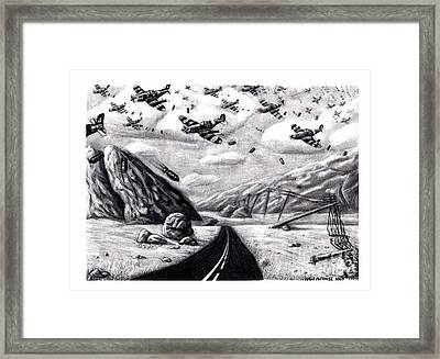 Desolate For Gunshy The Final Piece Framed Print by Katie Alfonsi