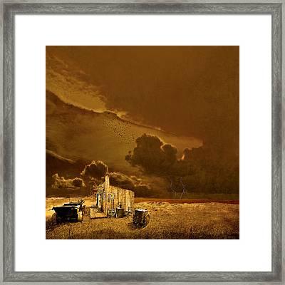 desolate landscape - Oregon Framed Print by Jeff Burgess