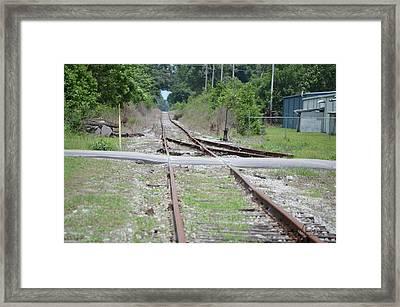 Desolate Rails Framed Print